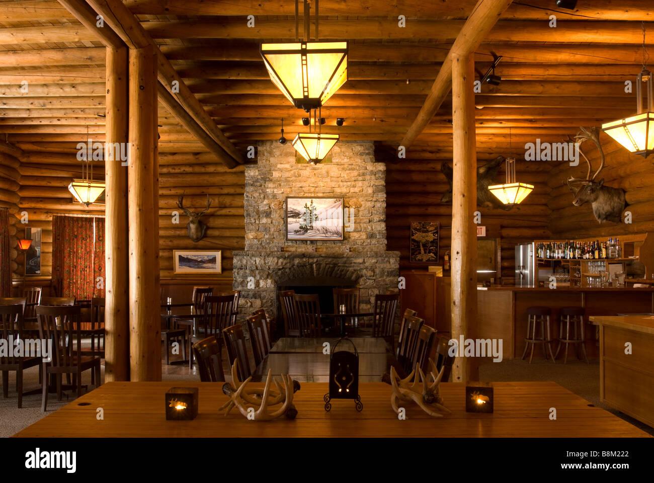Num Ti Jah Lodge, Banff National Park, Alberta, Canada - Stock Image