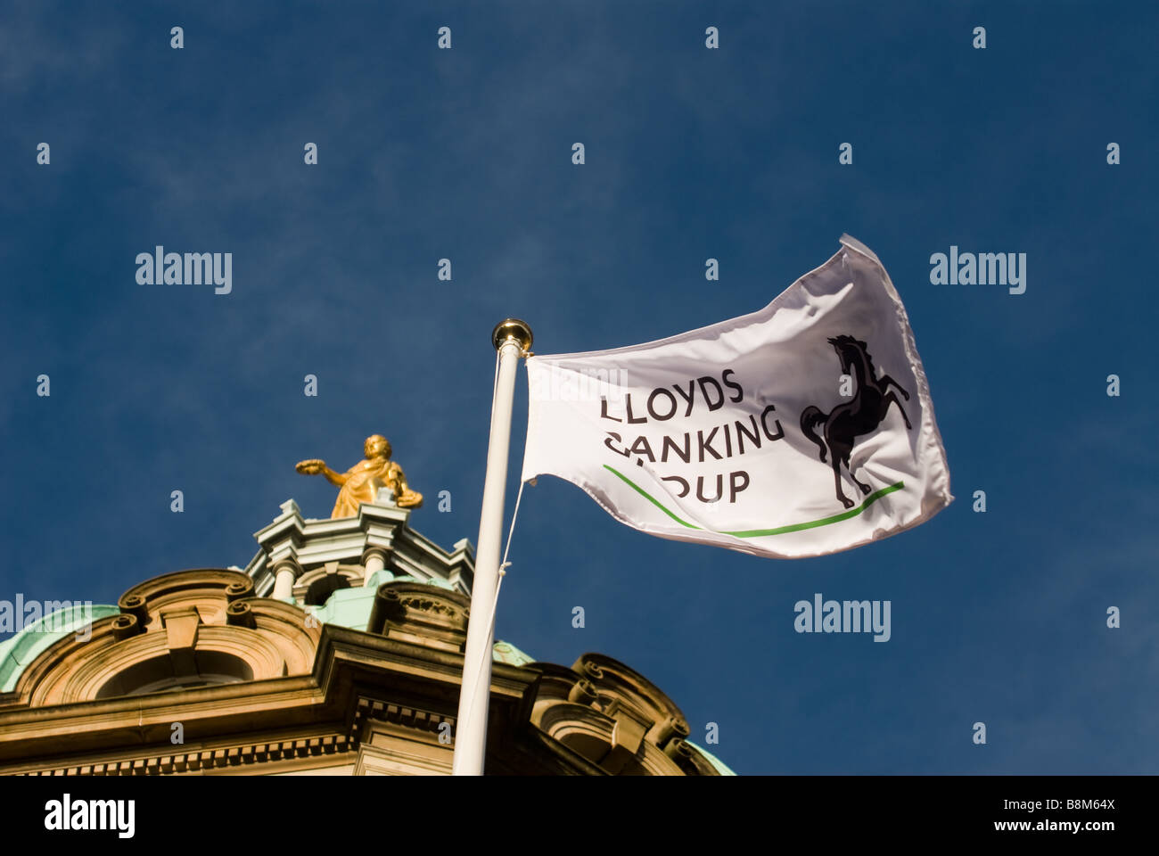 photograph of ltsb flag on hbos bos hq - Stock Image
