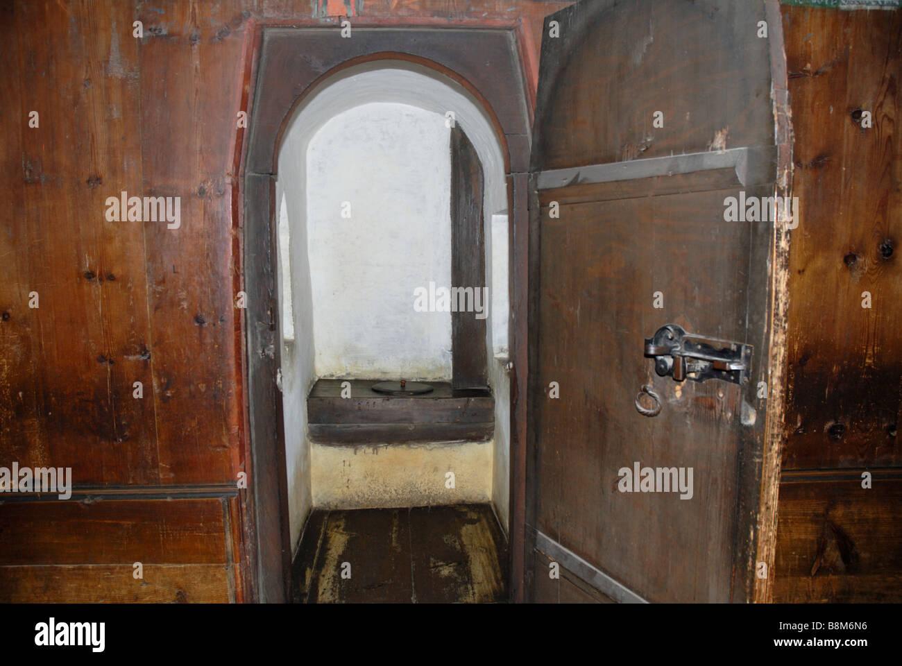 The Medieval Toilet In Interior Of Hohensalzburg Fortress Salzburg Austria