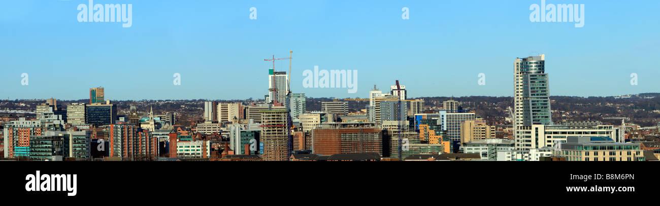 Leeds City Skyline panorama - Stock Image