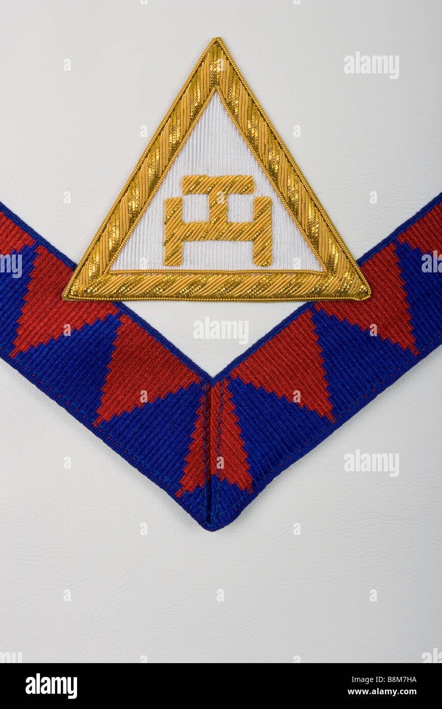 Detail from a Holy Royal Arch Freemason's apron, showing the