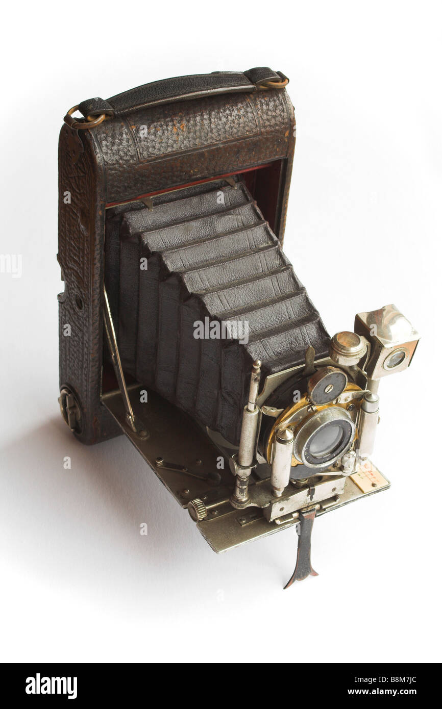 The Carbine - an old bellows camera. - Stock Image