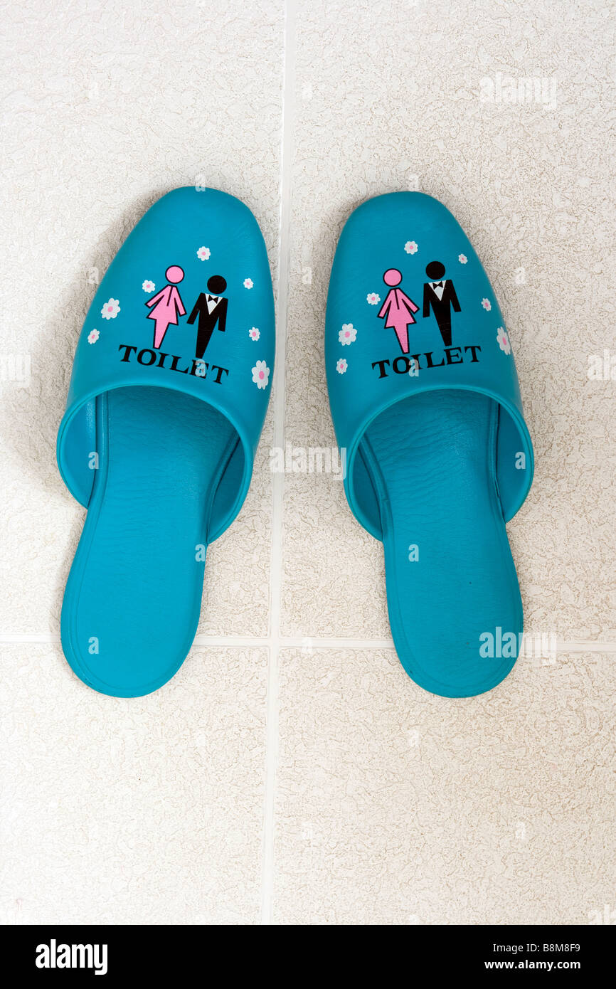 Japanese Toilet Slippers Stock Photos & Japanese Toilet Slippers ...