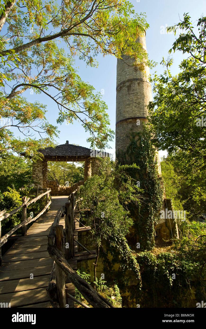 San Antonio Japanese Tea Gardens or Sunken Gardens registered Texas historical landmark - Stock Image