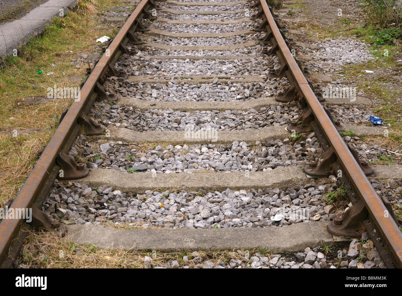 Rail Line Bristol Harbour - Stock Image