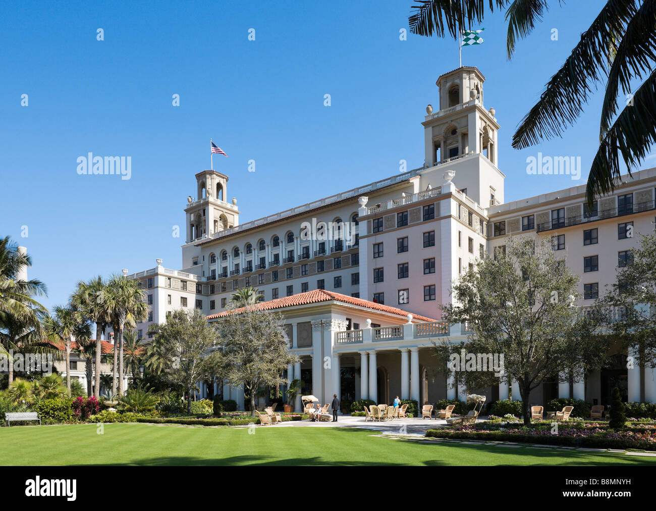The famous Breakers Hotel in Palm Beach, Gold Coast, Florida, USA - Stock Image