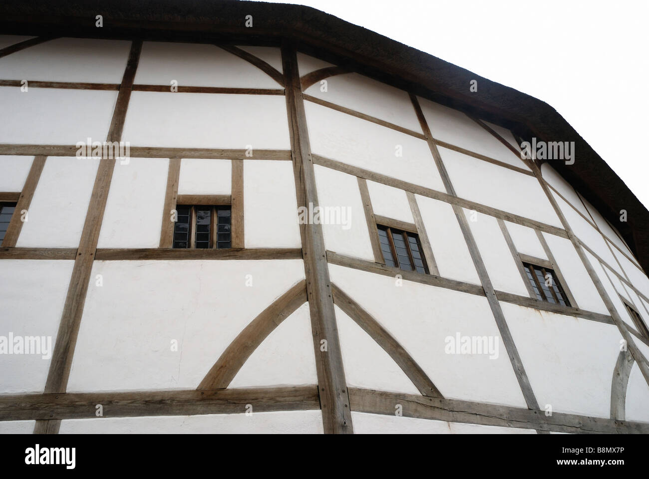 The Globe theatre in the City of London - Stock Image