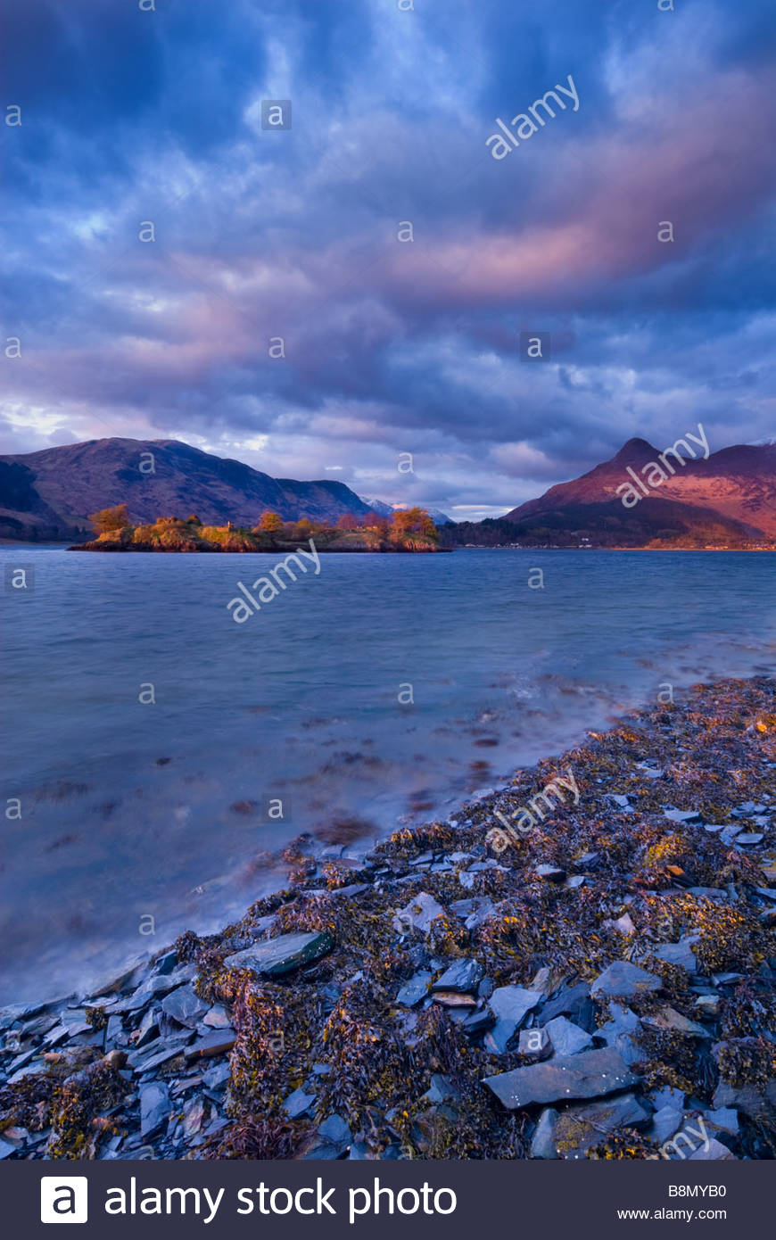 Loch Leven and the Pap of Glencoe, Scottish Highlands, Scotland, UK. - Stock Image