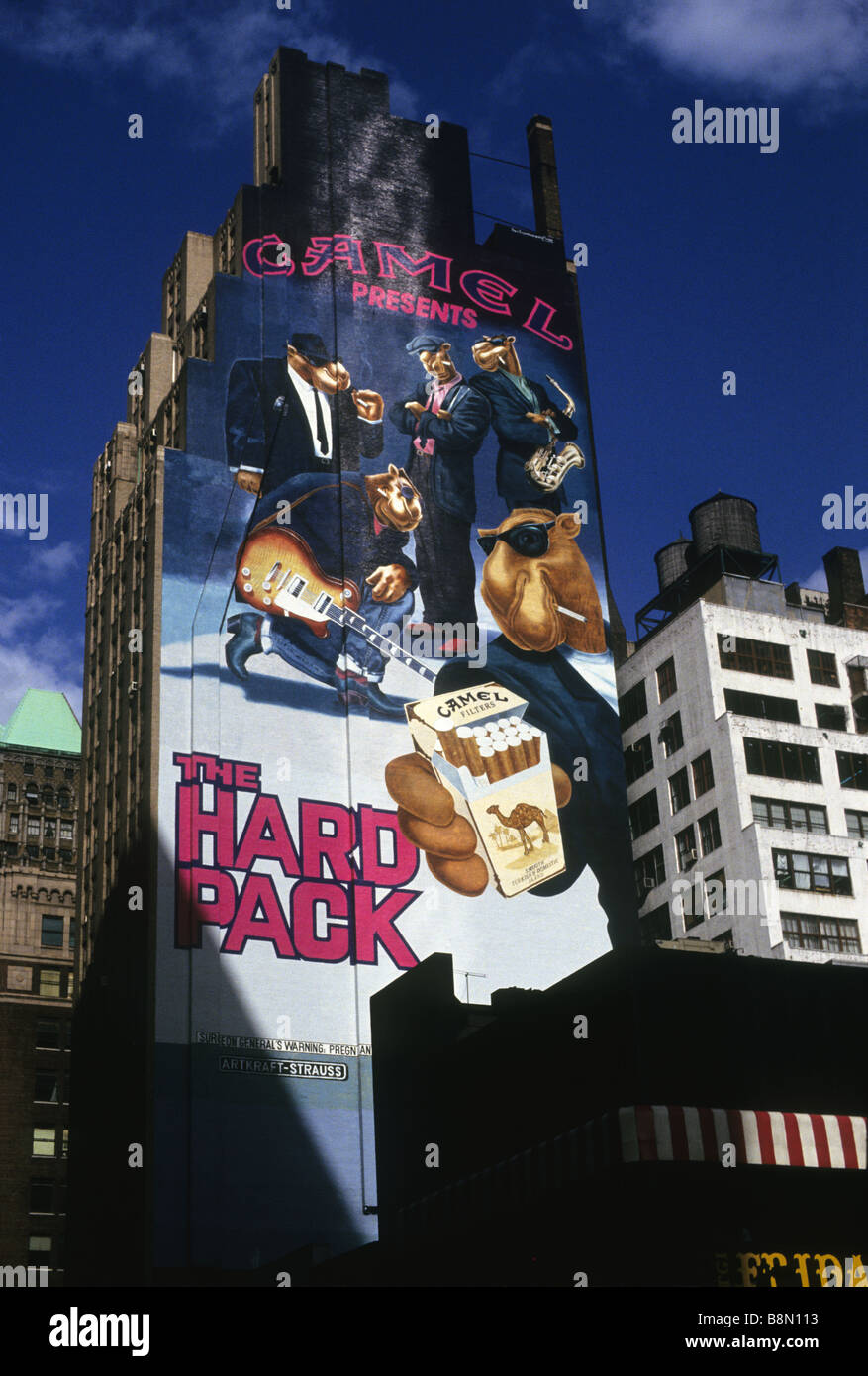 59992e2a New York NY Joe Camel on a Camel Cigarettes Advertising Billboard in  Midtown Manhattan - Stock