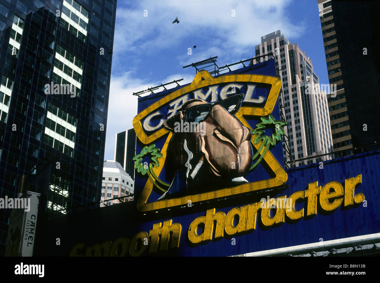 25471755 Joe Camel on a Camel Cigarettes Advertising Billboard in Times Square  Midtown Manhattan - Stock Image