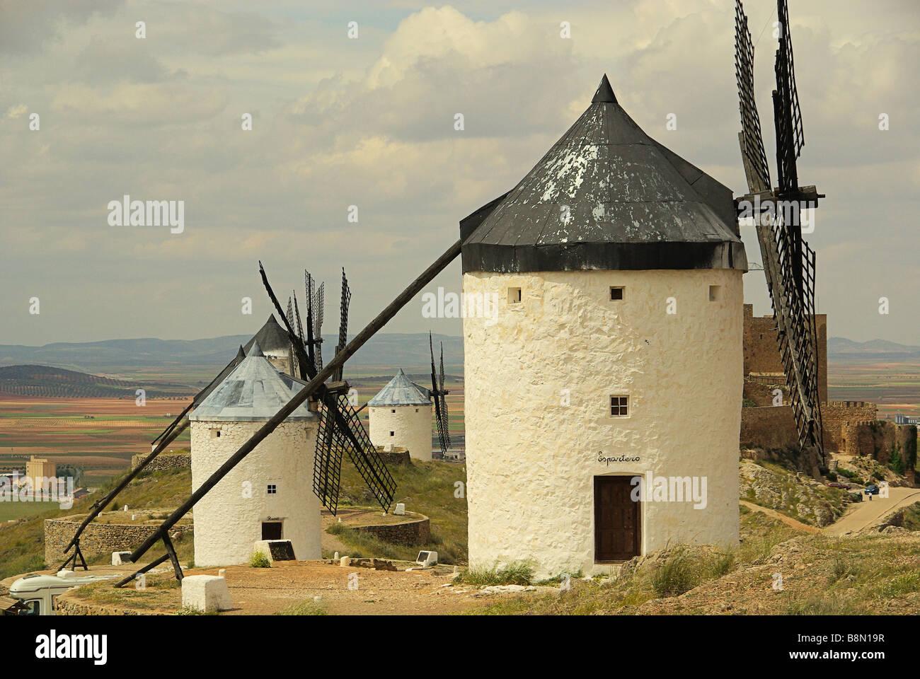 Consuegra Windmühlen 07 Stock Photo