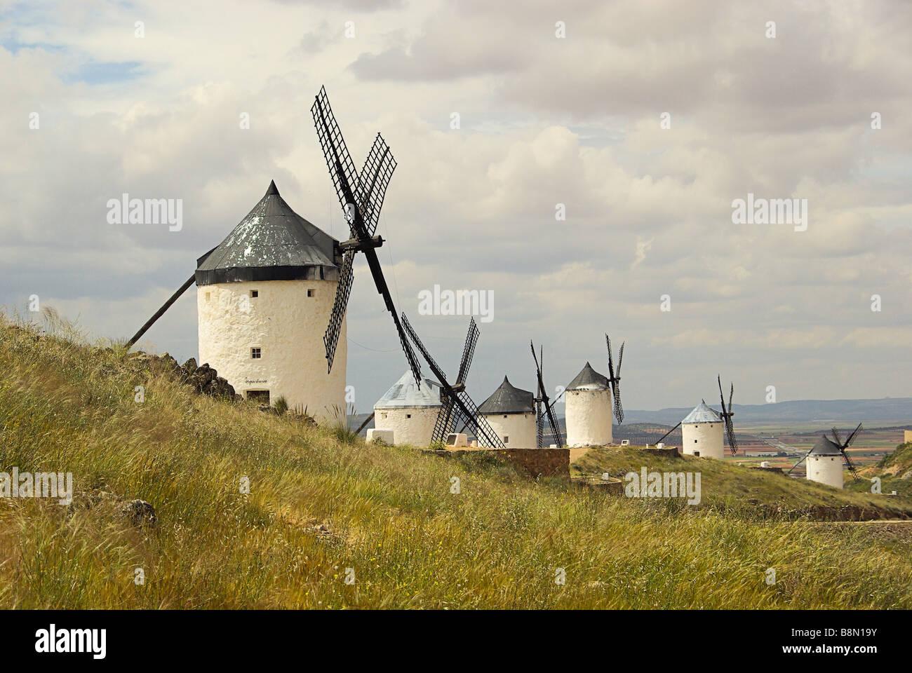 Consuegra Windmühlen Consuegra Windmill 09 Stock Photo