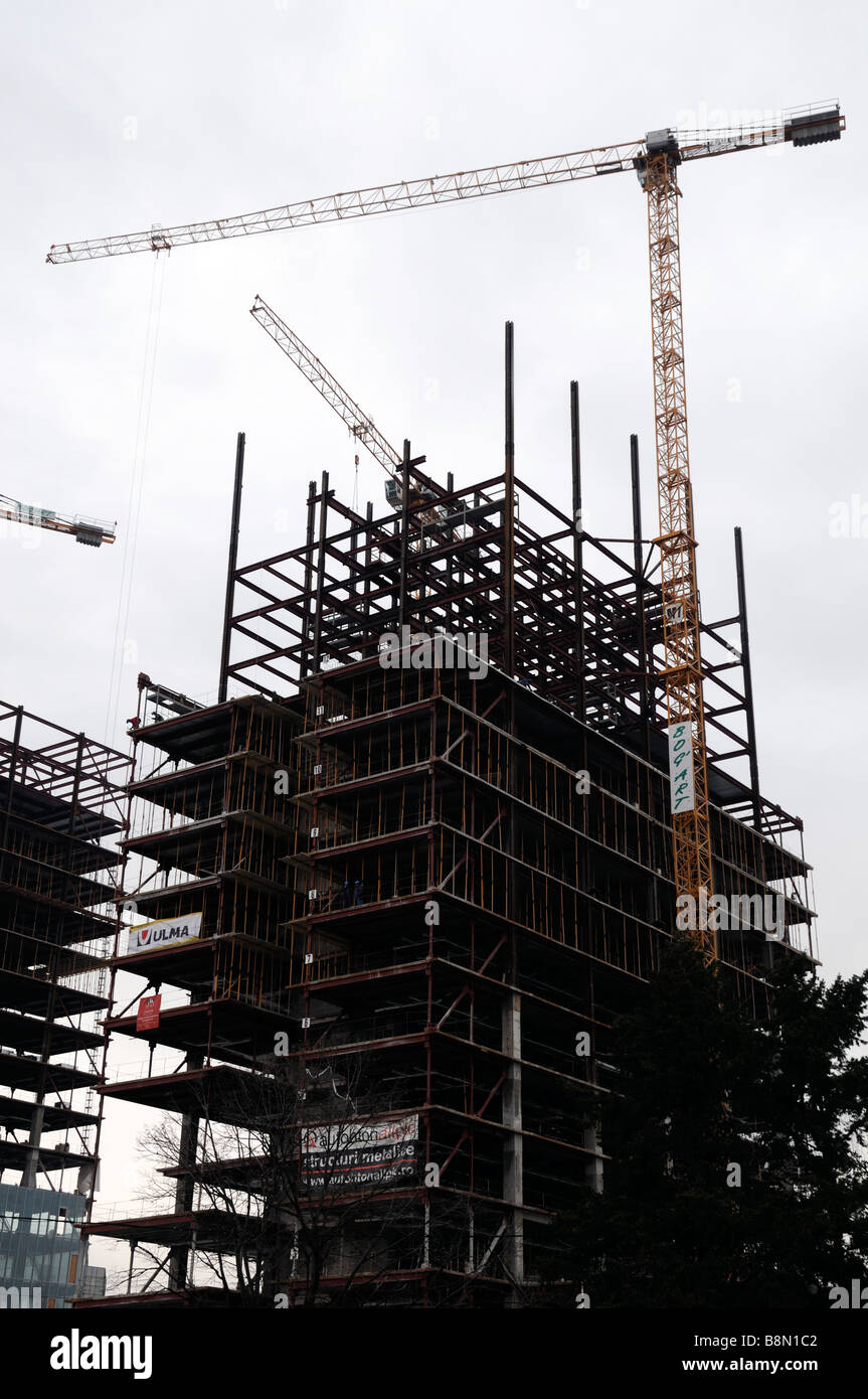 construction of the sigma towers building project Cluj Napoca, Romania skyscrapers tall buildings Stock Photo