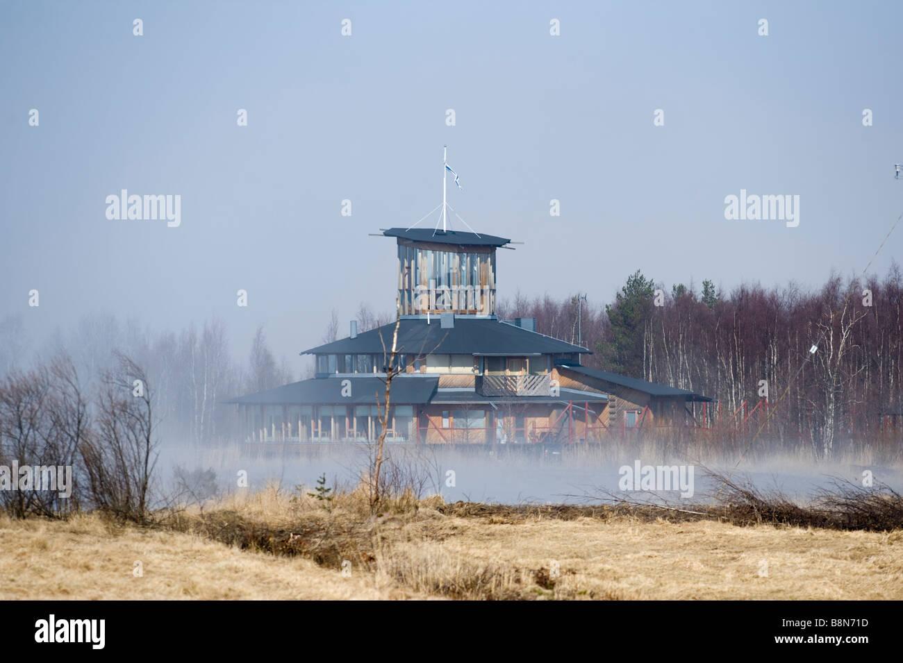 Liminka Bay Nature Centre Liminka Finland April - Stock Image