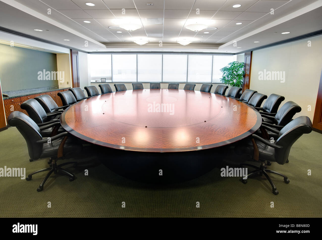 Beau Round Boardroom Conference Room Table
