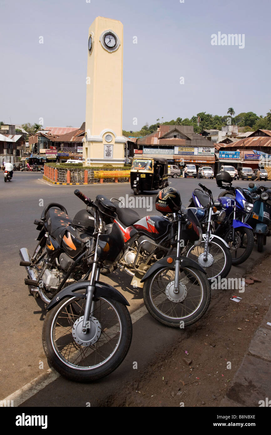 India Andaman and Nicobar South Andaman island Port Blair Aberdeen Bazaar clock tower Stock Photo