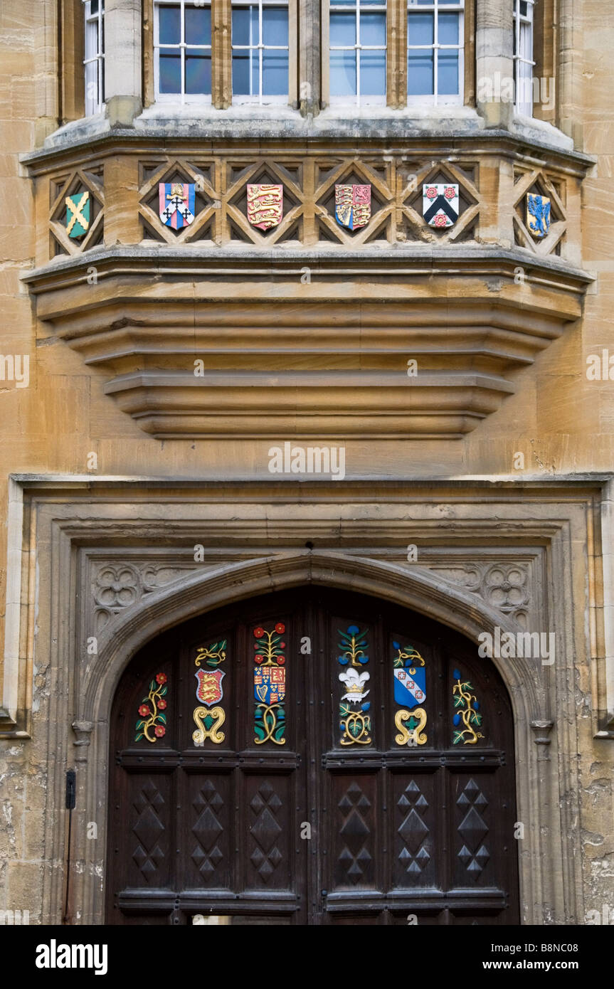 Entrance doors to Oriel College Oxford - Stock Image