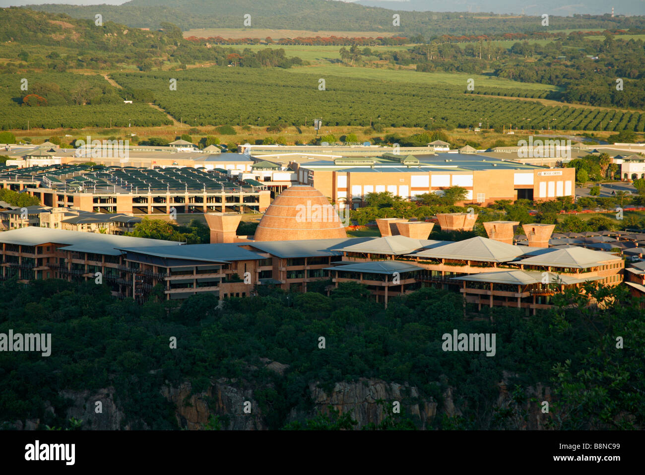 The Mpumalanga government buildings set it the scenic Nelspruit countryside Stock Photo