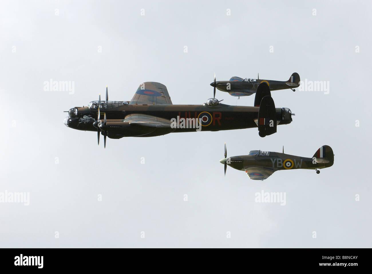 Battle of Britian Memorial Flight - Stock Image