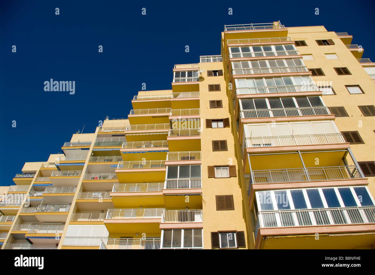 Apartment Blocks Spain Spanish Tower Block Of Flats