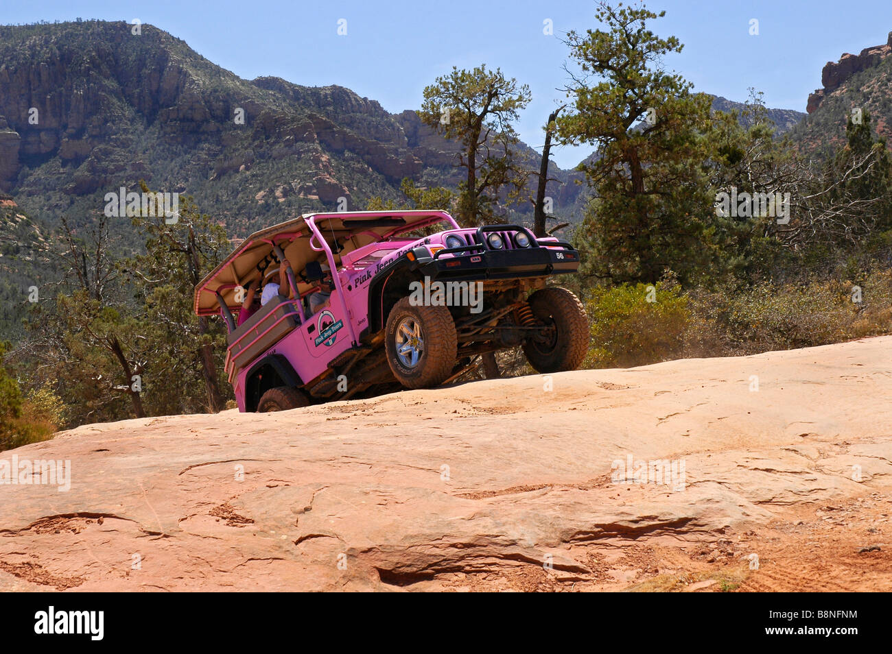 Pink Jeep Tours In Wilderness Area Near Sedona AZ
