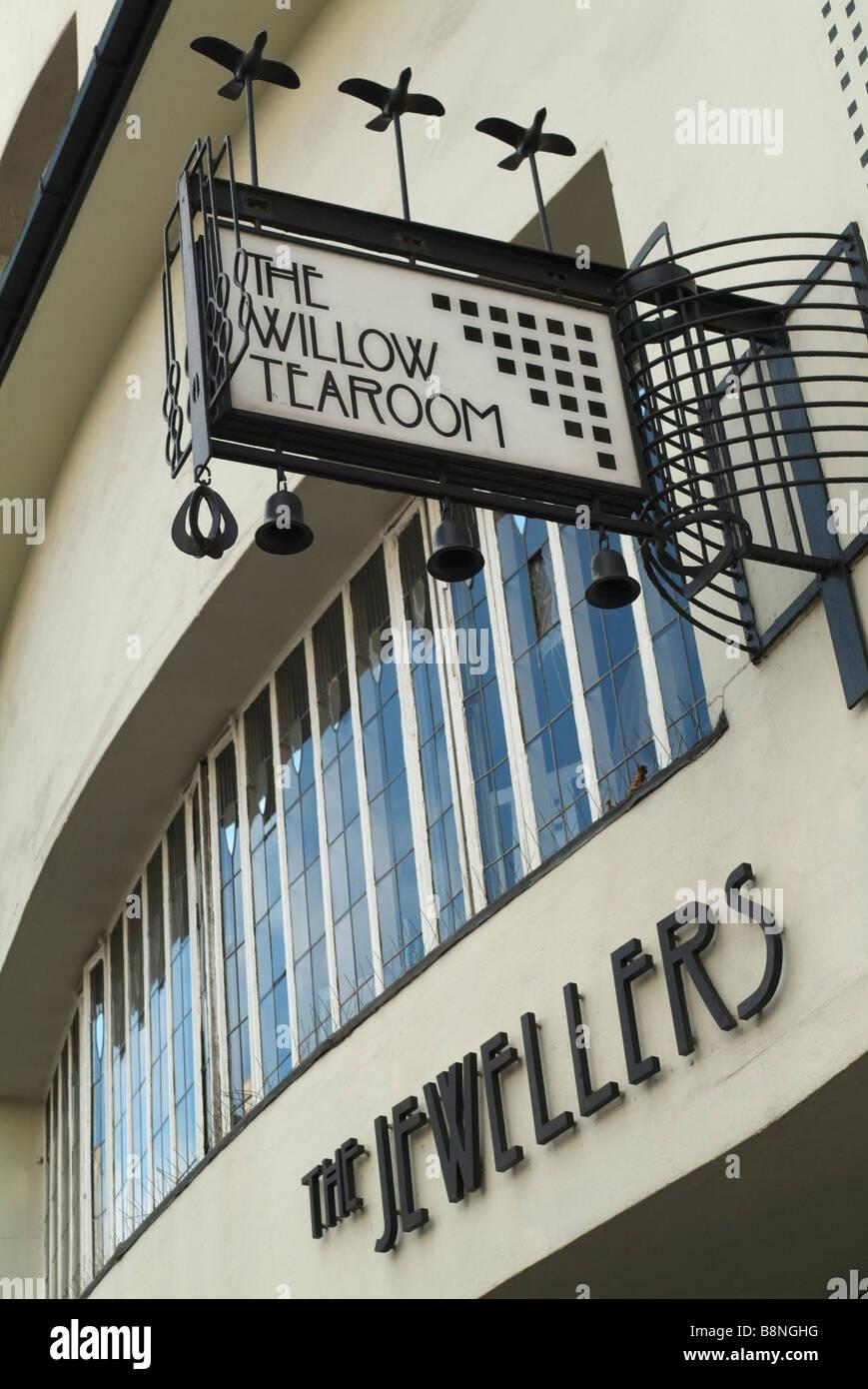 The Willow Tea Rooms in Sauchiehall Street, Glasgow, Scotland. Stock Photo