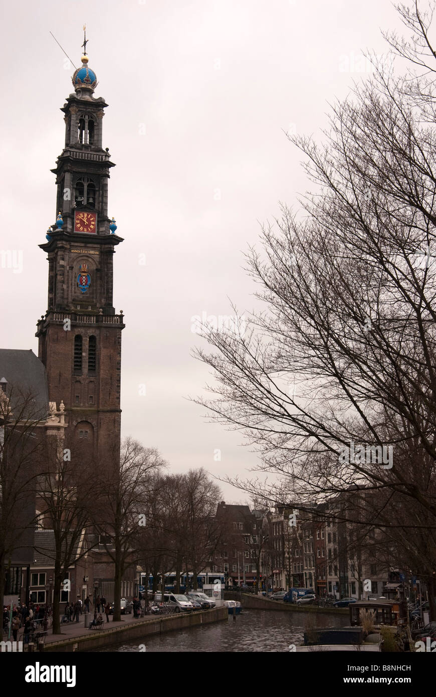 The West Church Prinsengracht Amsterdam - Stock Image