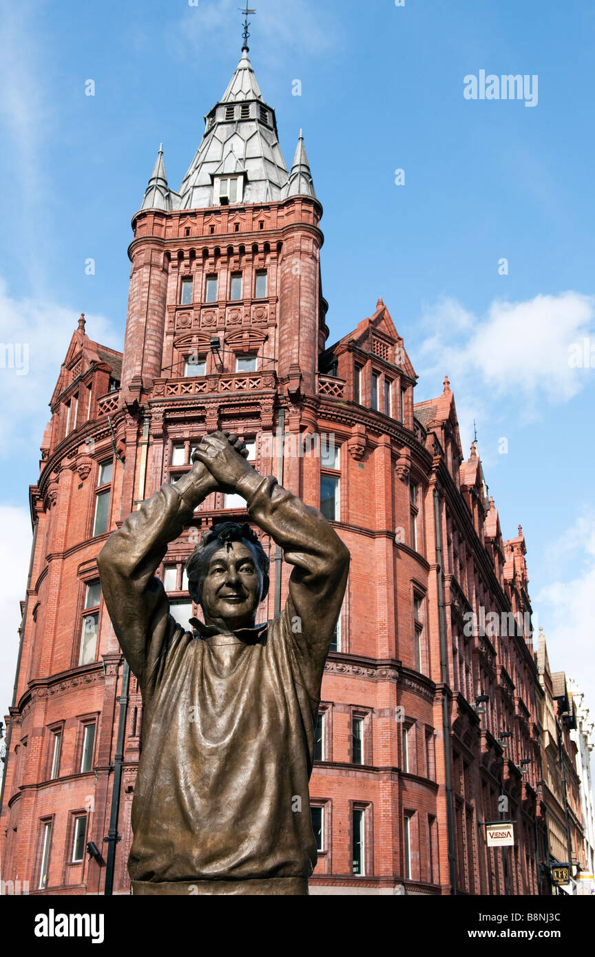 Brian Clough statue, Nottingham, England - Stock Image
