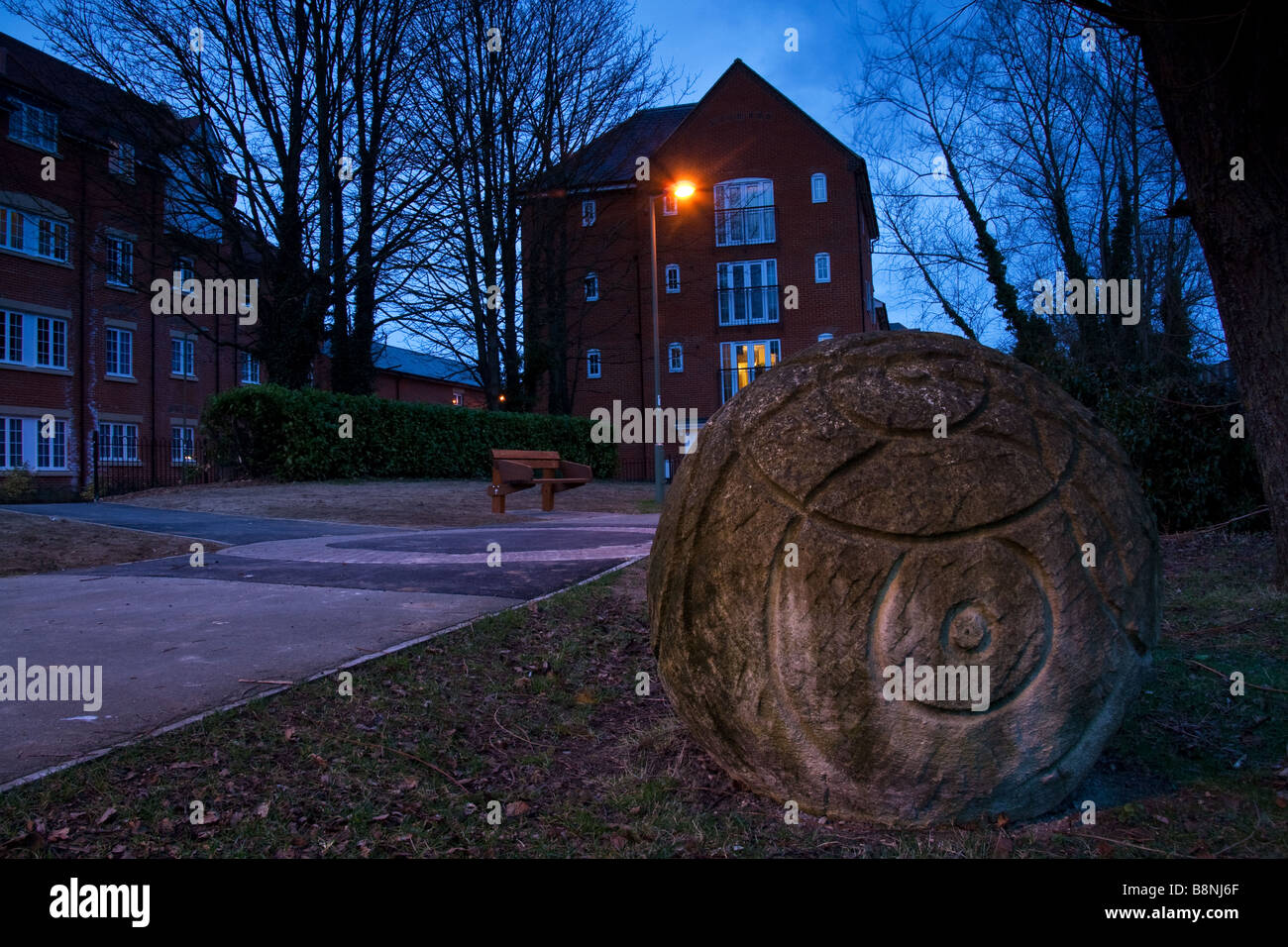 Stone monument Mill st Wantage - Stock Image