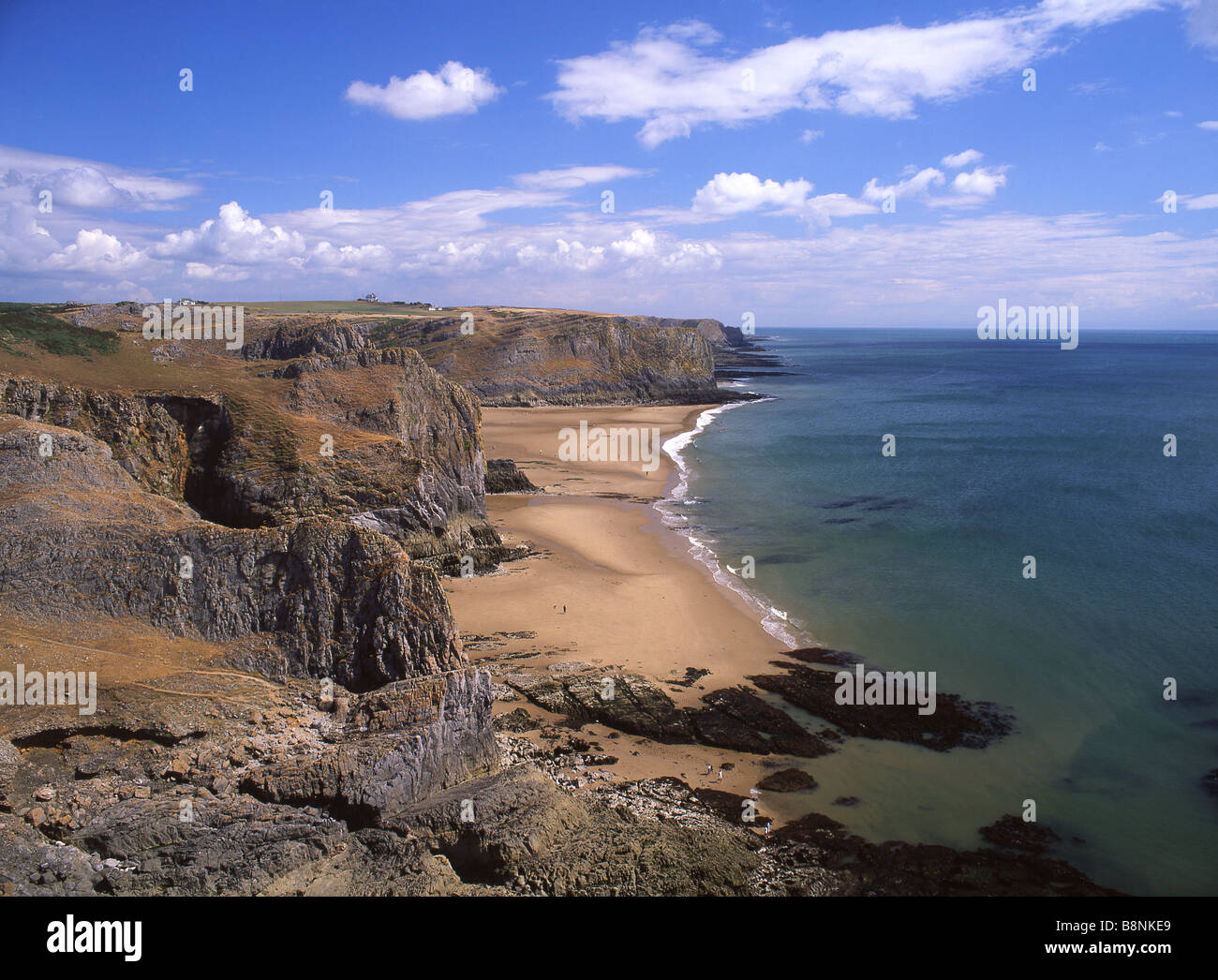 Mewslade Bay Near Rhossili Gower Peninsula South Wales UK - Stock Image