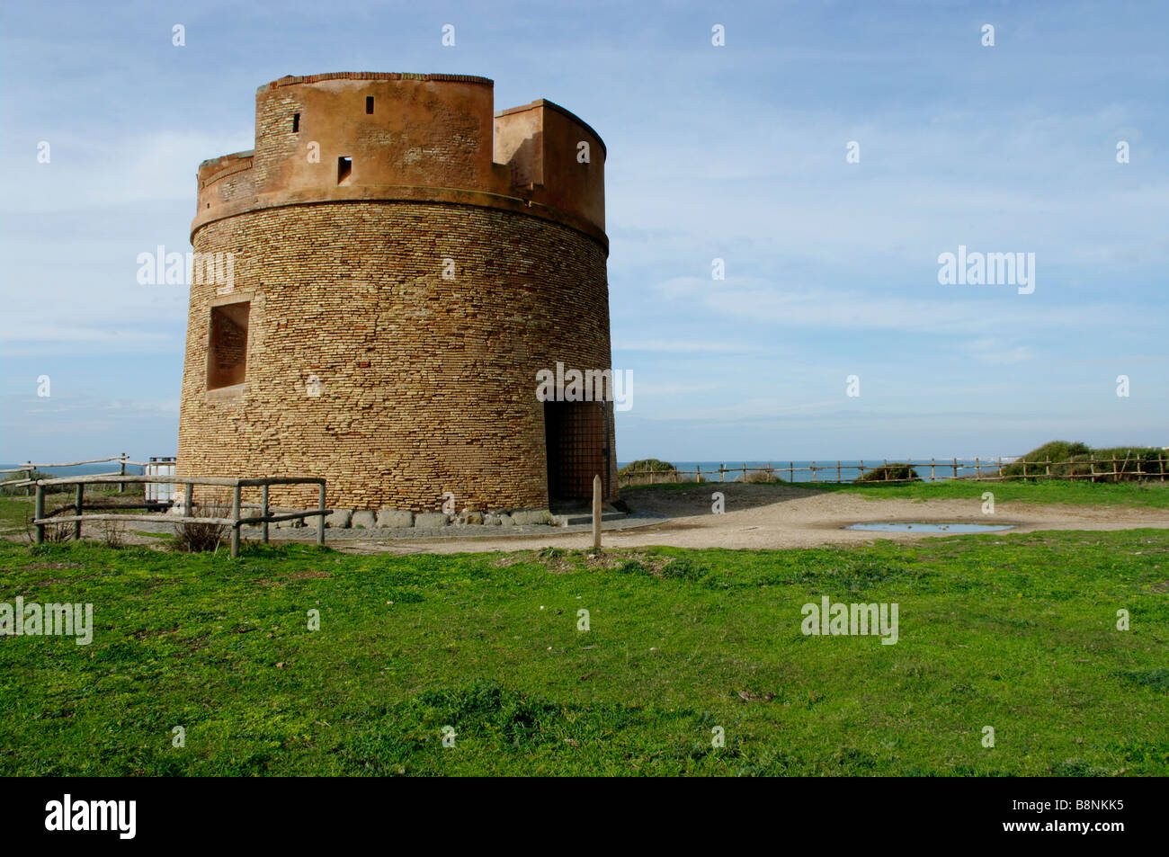 Tor Caldara tower, near Anzio - Stock Image