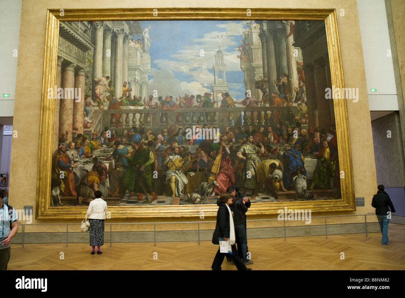Big Painting of the Last Supper with Jesus at the Louvre Museum ...