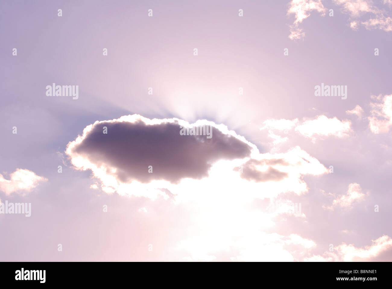 A godly cloud - Stock Image