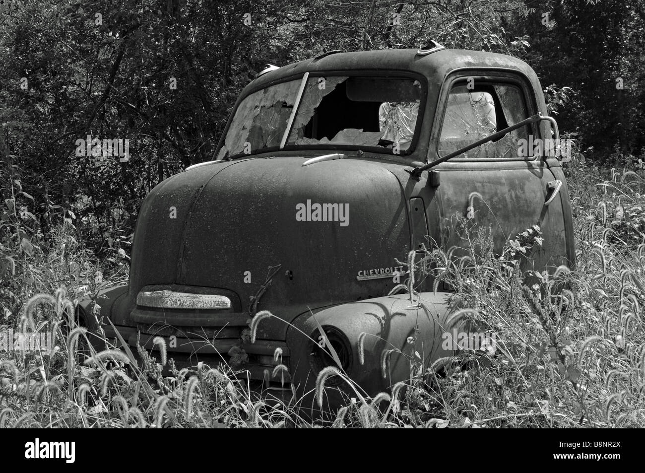 Old Chevrolet truck, Stub nose - Stock Image