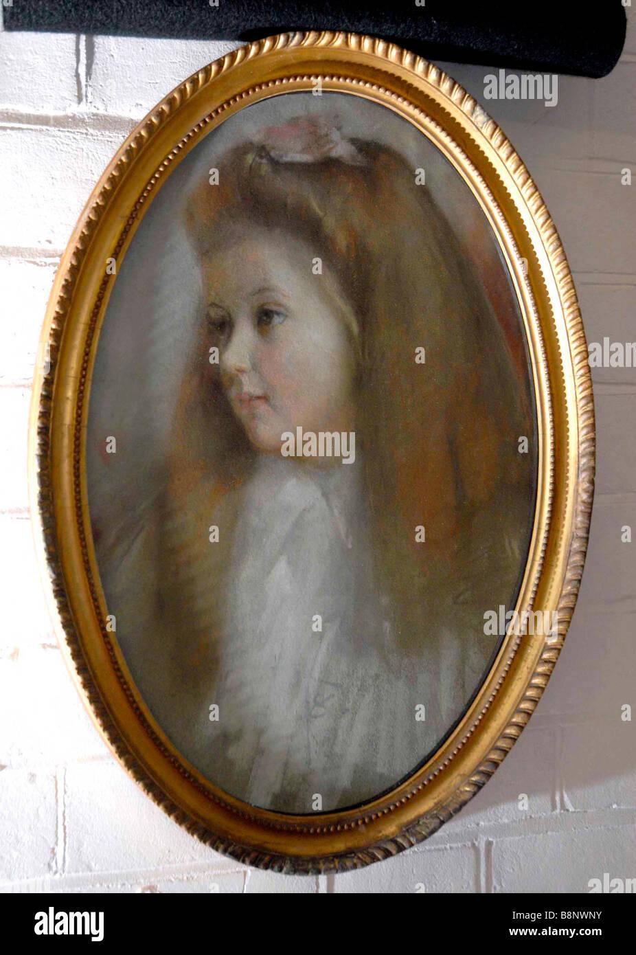'Tom Roberts' 'pastel drawing' called Goda - Stock Image
