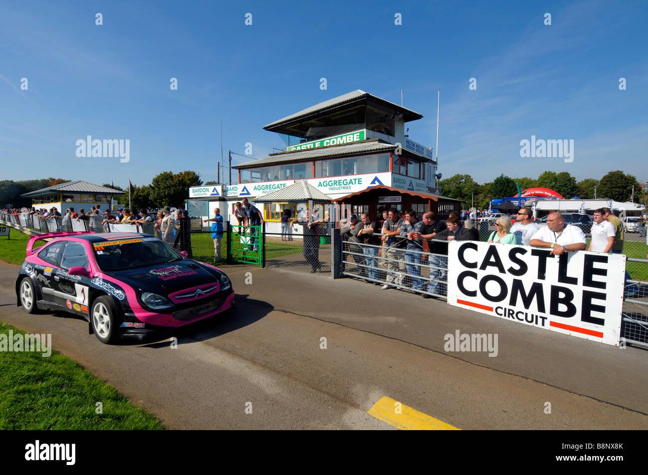Castle Combe racing circuit in Wiltshire, Britain, UK - Stock Image