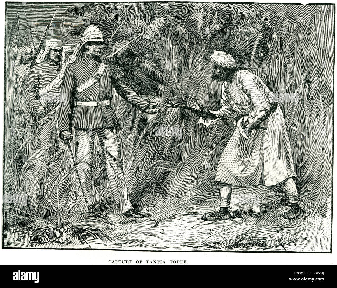 capture tantia topee Ram Chandra Pandurang Tope Indian leader Indian Rebellion 1857 - Stock Image
