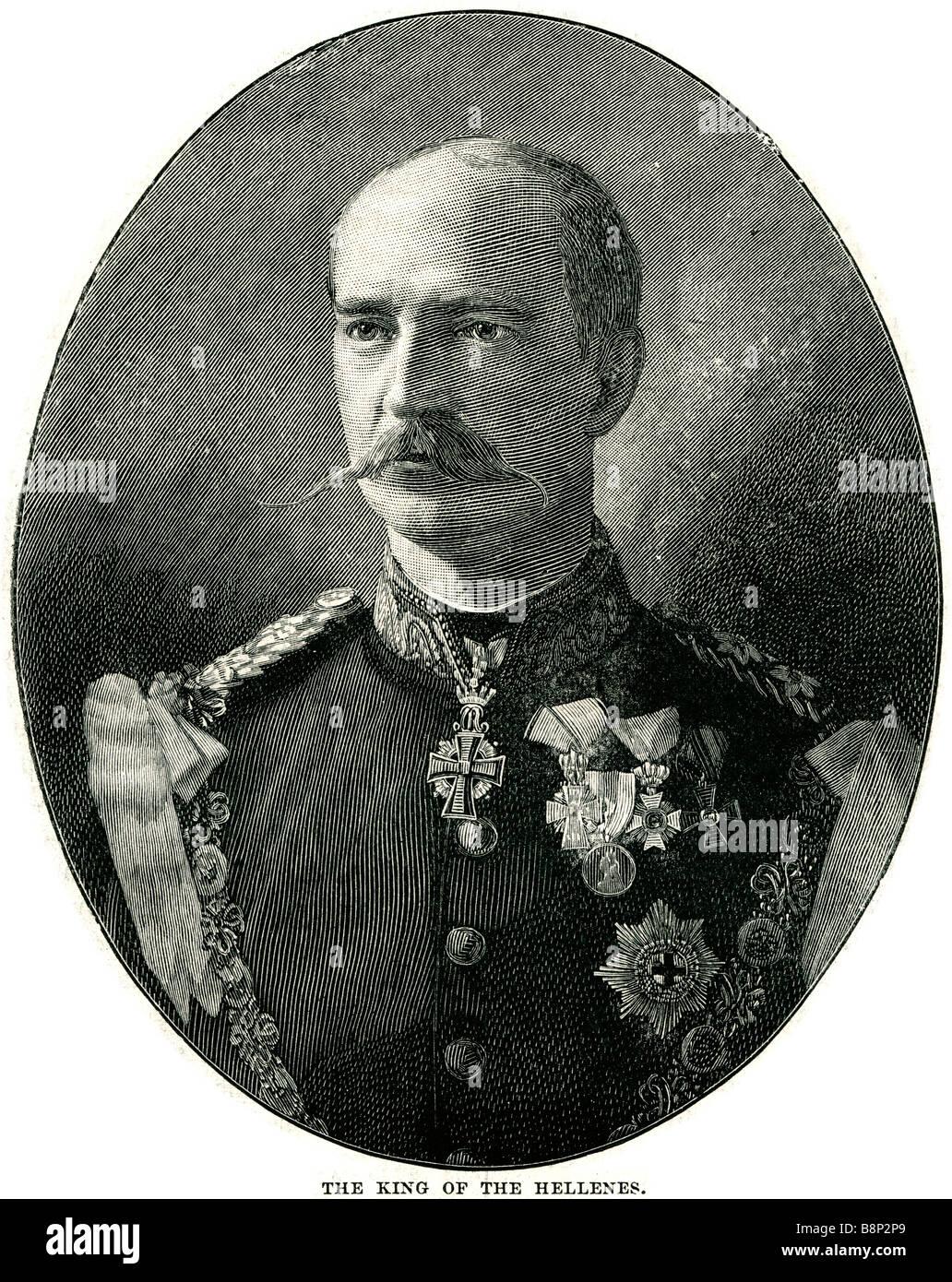 George I Greek king of the Hellenes 1845 1913 Greece Danish prince - Stock Image