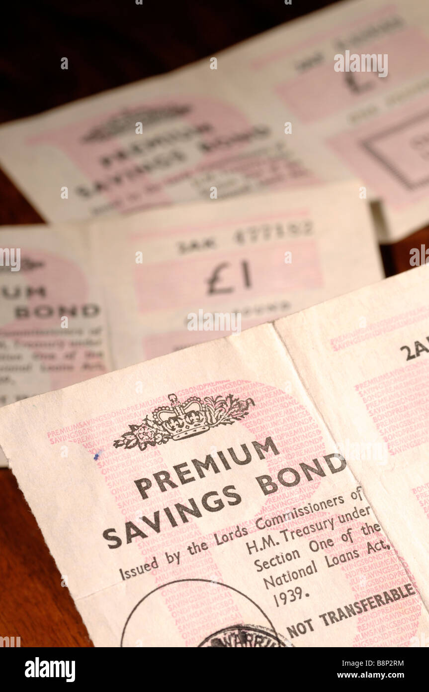 Premium Bonds - Stock Image