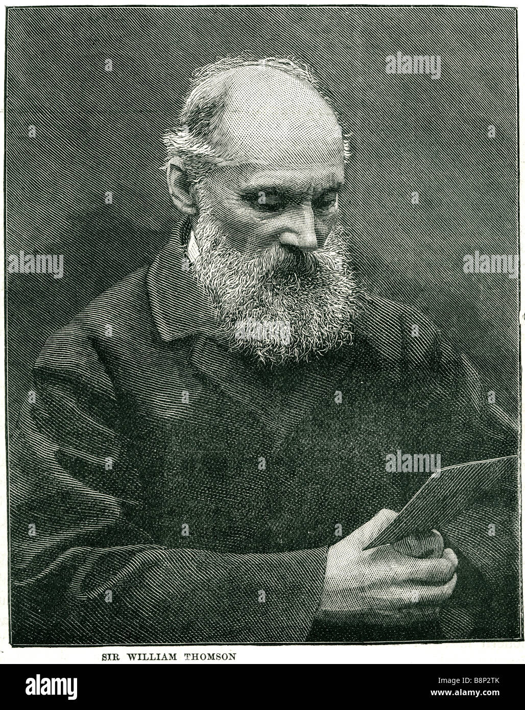 Sir william Thomson Lord Kelvin 1824 1907 Irish-born British mathematical physicist engineer - Stock Image