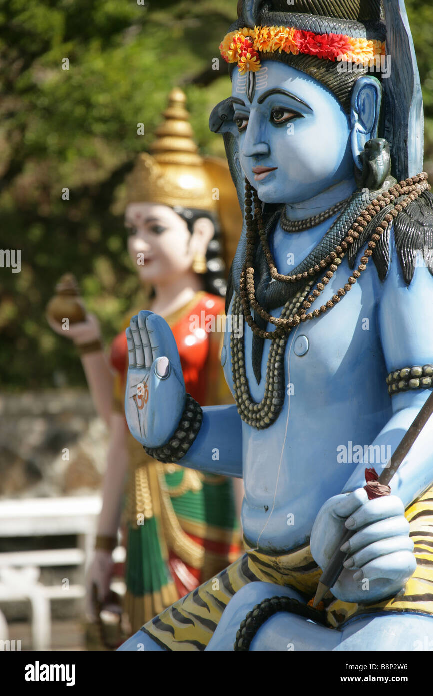 The Indian Hindu god Lord Shiva at the Grand Bassin Temple in Mauritius. - Stock Image