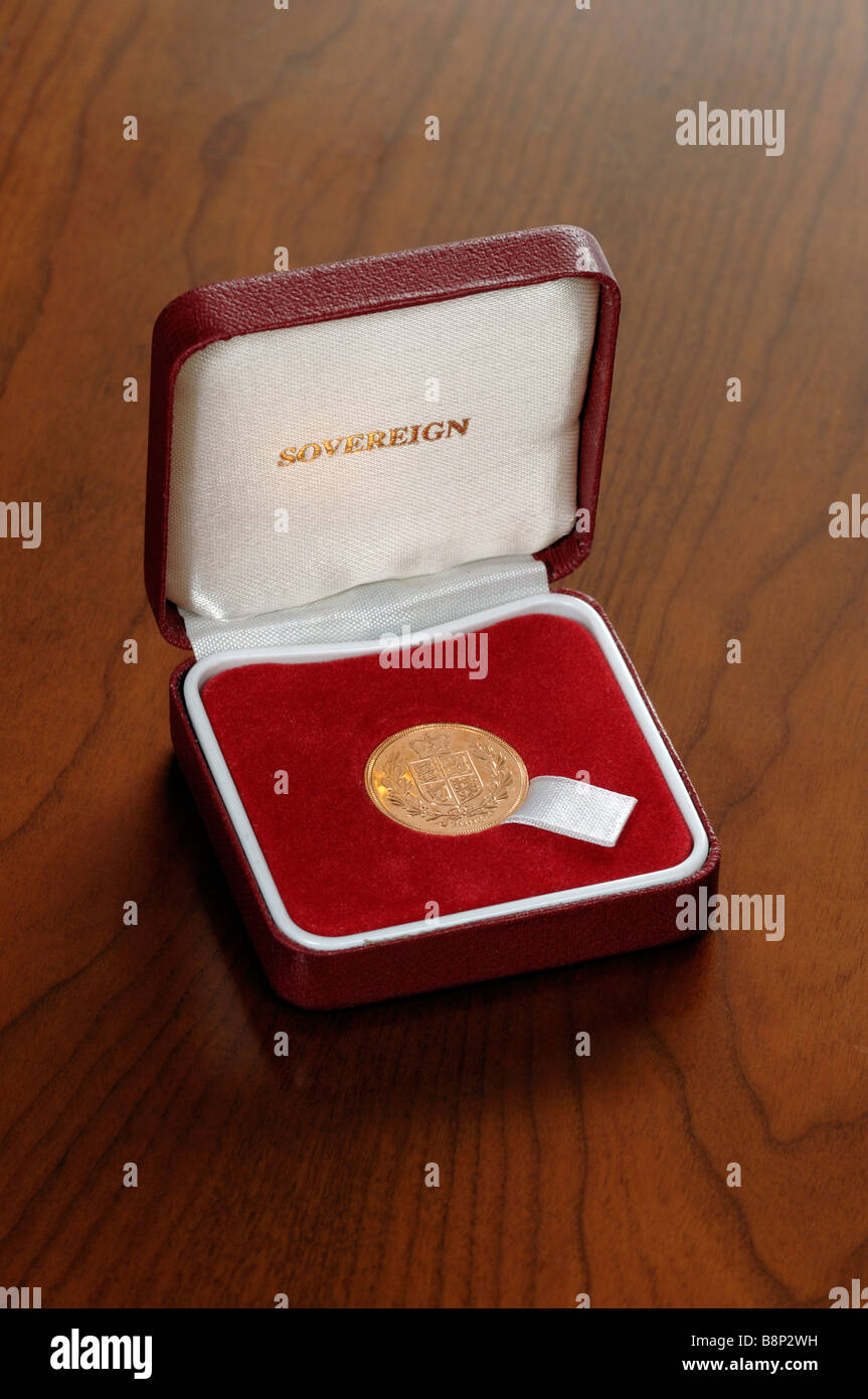 Sovereign gold coin - Stock Image