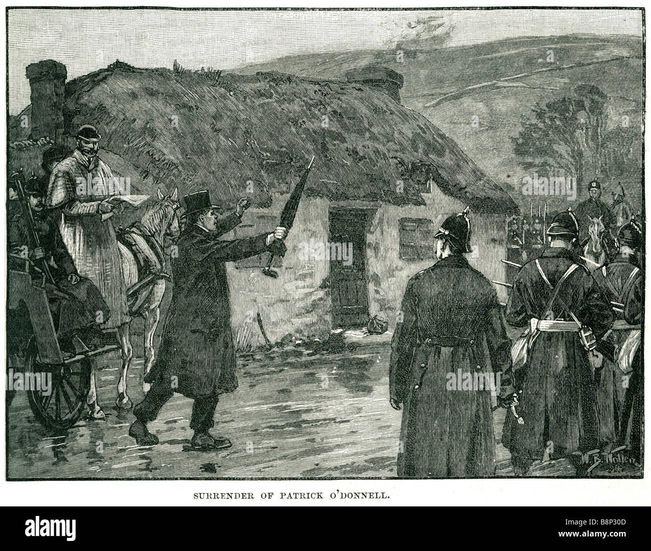 surrender patrick o'donnell 1835 1883 Pádraig Mhícheál Airt Ó Domhnaill London - Stock Image