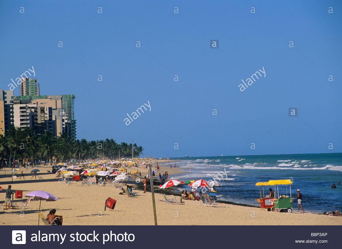 boa viagem beach, recife, brazil - Stock Image