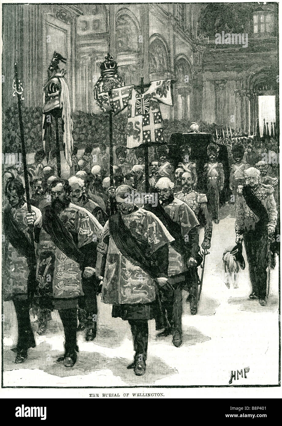 burial of wellington 1852 Walmer Castle political Commander-in-Chief state funeral - Stock Image
