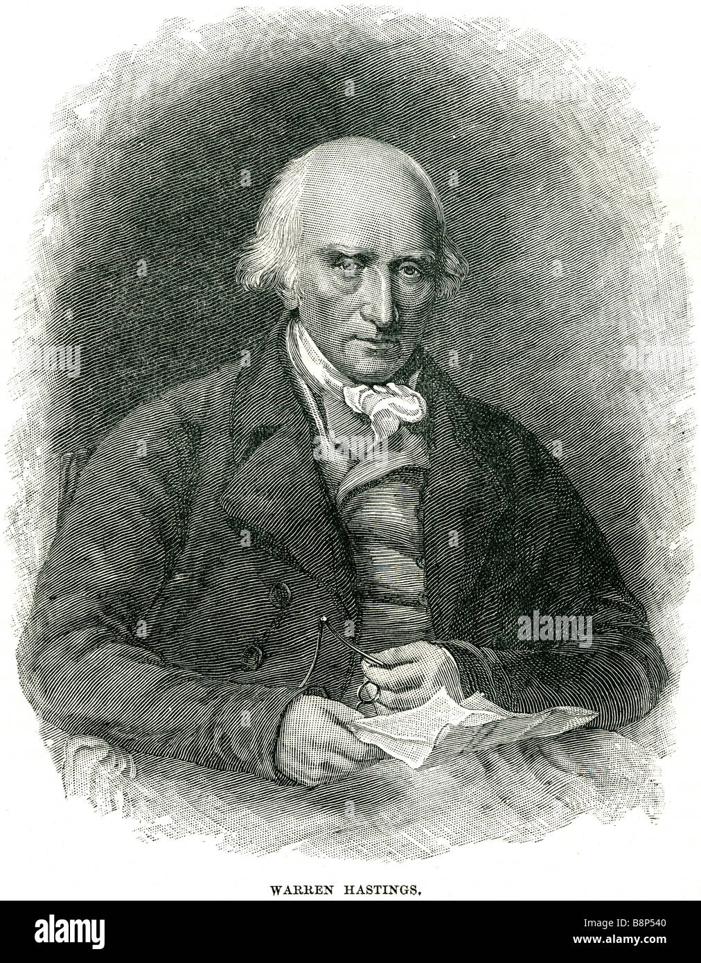 warren hastings 6 December 1732 - 22 August 1818 first Governor-General of Bengal Privy Councillor - Stock Image