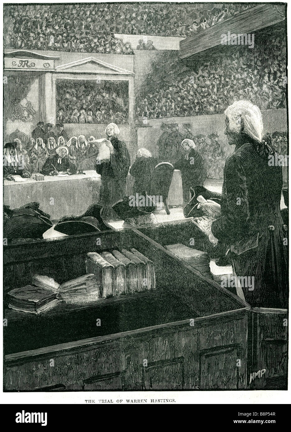 trial warren hastings December 1732 22 August 1818 Governor-General of Bengal Privy Councillor - Stock Image
