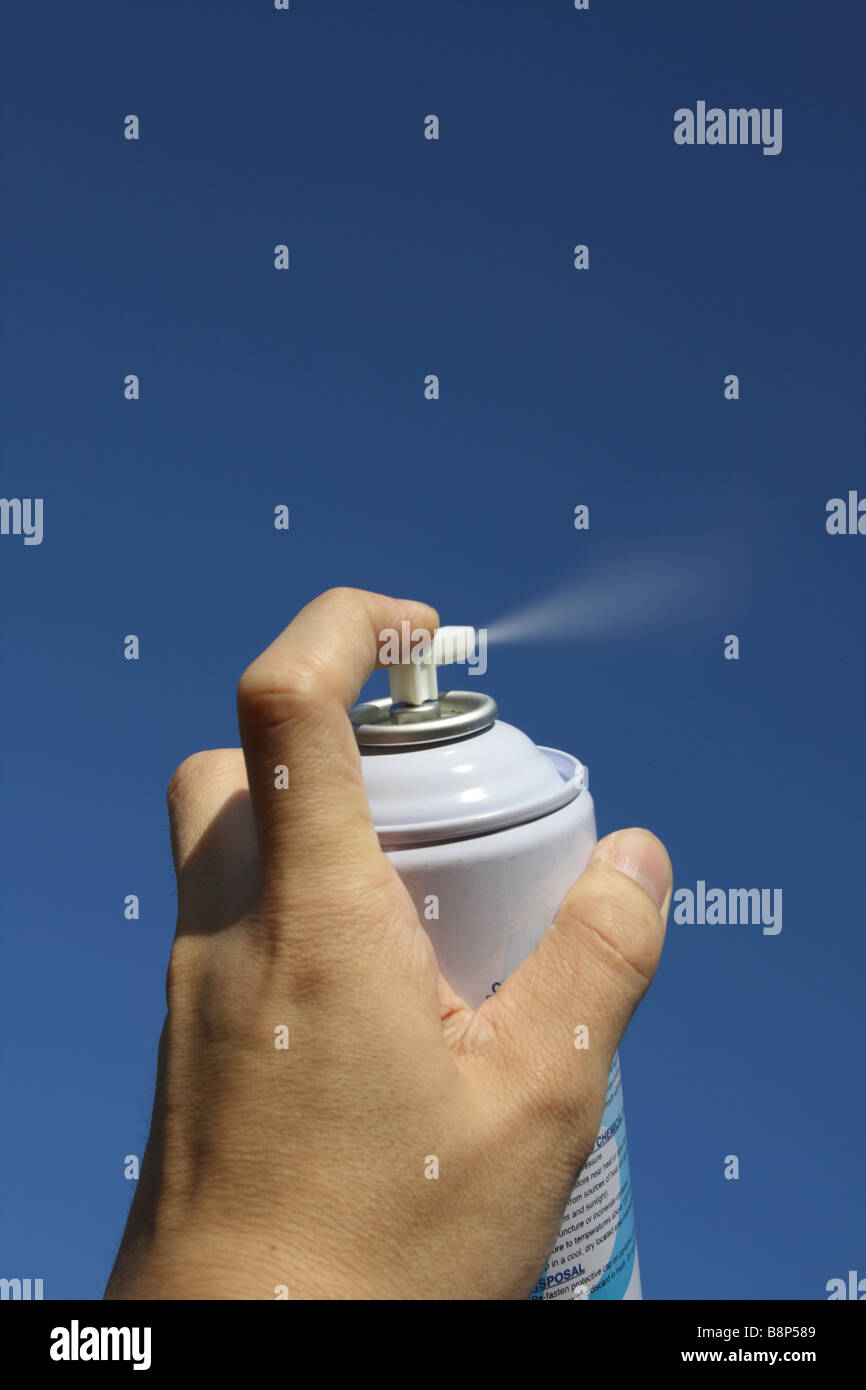 aerosol can spray - Stock Image