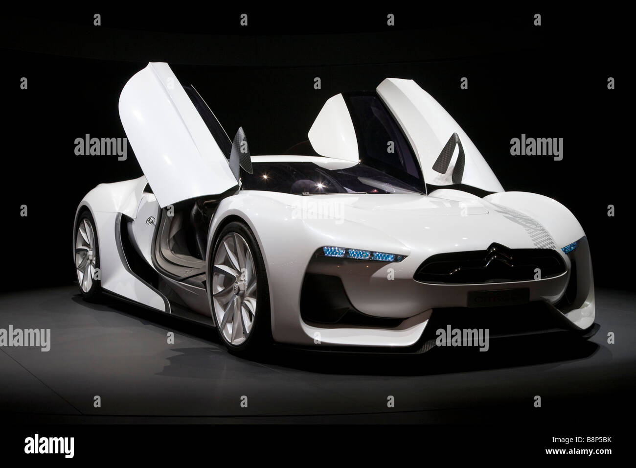 The GT by Citroën sports car that debuted as a concept car on October 2 at the 2008 Paris Motor show. - Stock Image