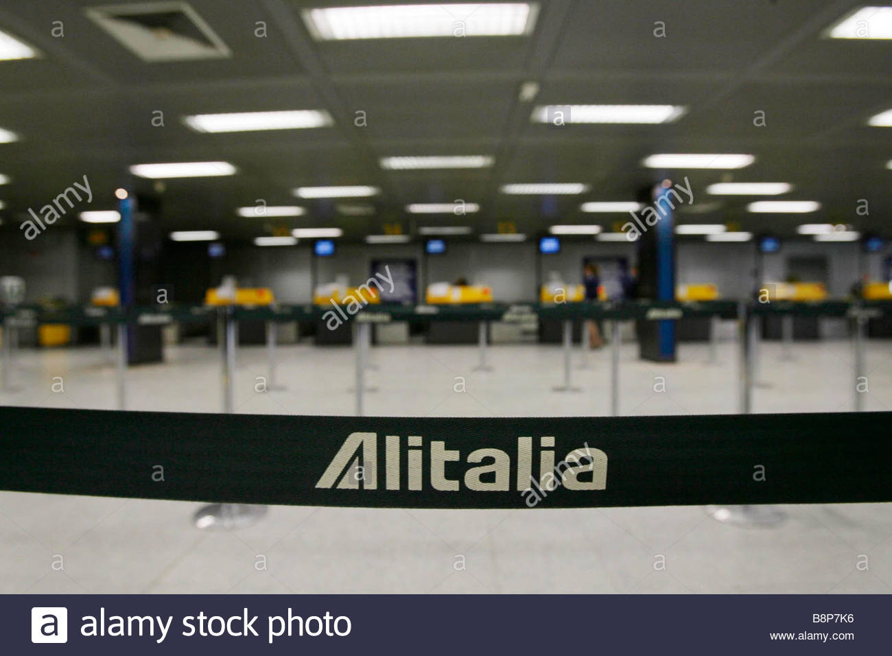 firts day for the new alitalia airline'milano-linate 13-01-2009'photo alex-itria/markanews - Stock Image